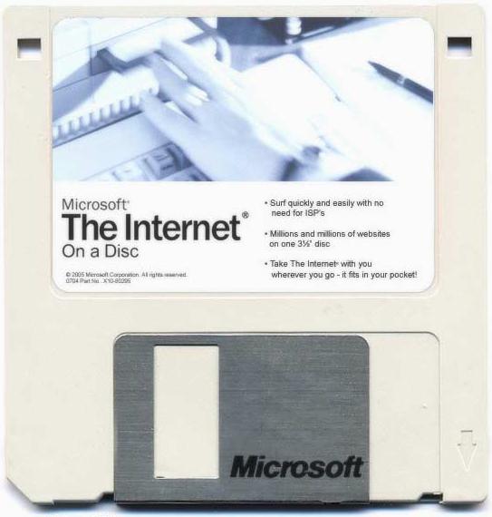 Microsoft: das Internet auf einer Diskette