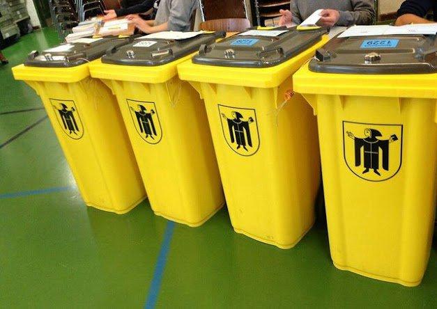 Bayern - Wahl fuer die Tonne